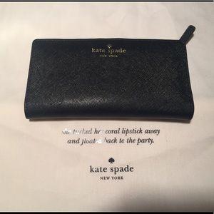 Kate Spade ♠️ New York Black Leather Wallet